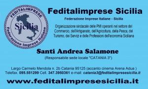Feditalimprese Sicilia - sede Catania 3  BIGLIETTINO SALAMONE